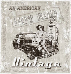 hot rod american vector image