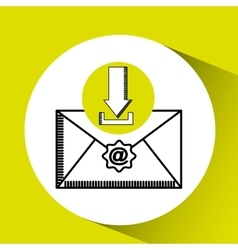 download email concept message communication vector image
