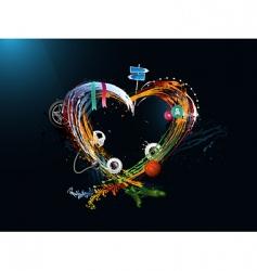 grunge heart vector image