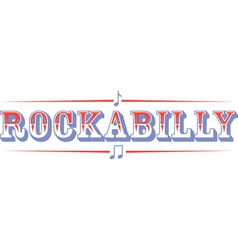 Rockabilly vector