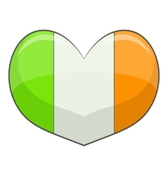 Ireland heart icon cartoon style vector