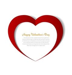 Heart paper background vector