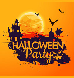 Grunge style halloween party background vector