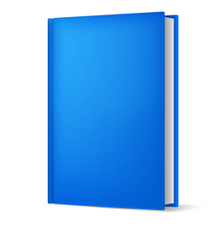Classic blue book in front vertical view isolated vector