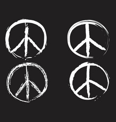 White doodle peace symbol vector