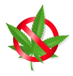Stop marijuana sign vector