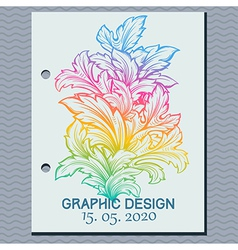 vintage leaf design element vector image