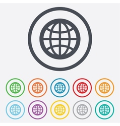 Globe sign icon world symbol vector