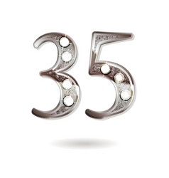 35 years anniversary celebration design vector