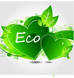 Eco leaf background vector