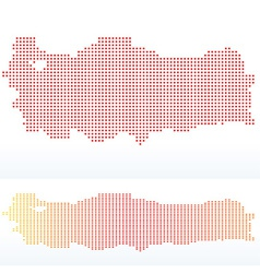 Map of republic of turkey with with dot pattern vector