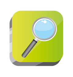 3d button magnifying tool icon vector