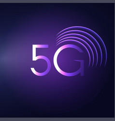 5g sign icon mobile telecommunications vector image vector image