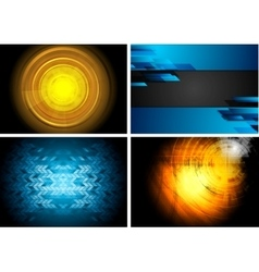 Set of technology backgrounds vector