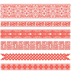 floral scroll pattern vector image