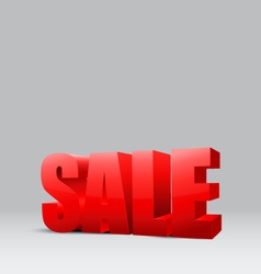 Red 3D SALE sign vector image