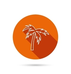 Palm tree icon travel or vacation symbol vector