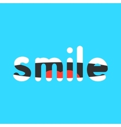 abstract smile sign on blue background vector image