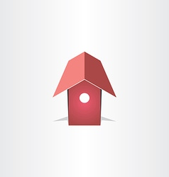 Bird house symbol design vector