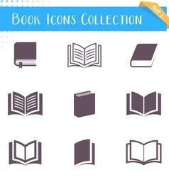 Book icons collection vector image