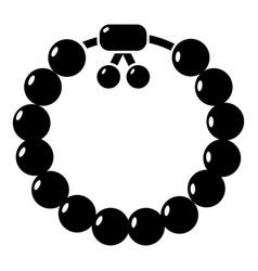 charming gemstone bracelet icon simple style vector image