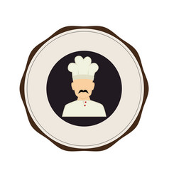 Chef avatar isolated icon vector