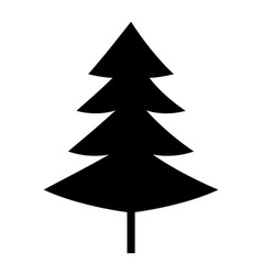 christmas tree black silhouette icon vector image