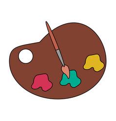 Color image cartoon watercolor palette art tool vector