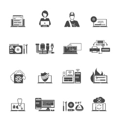 Computer Service Icons Set vector image vector image