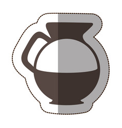 Contour water pitcher icon vector