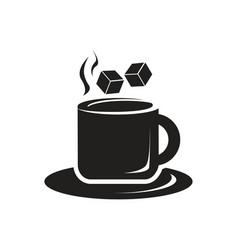 Cup of tea icon vector