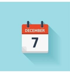 December 7 flat daily calendar icon date vector