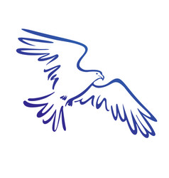 eagle icon isolated sign symbol vector image vector image