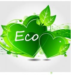eco leaf background vector image vector image