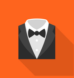 Formal suit icon flat design vector