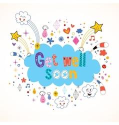 Get well soon card vector