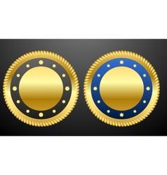 Golden badges vector image vector image