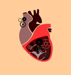 Heart with cogs vector