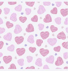 holiday template seamless pattern pink hearts vector image