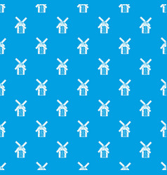 Mill pattern seamless blue vector