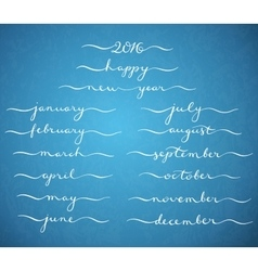 Months of the year vector image