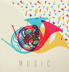 Music concept horn orchestra band color design vector