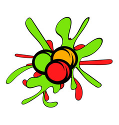 paintball balls icon cartoon vector image