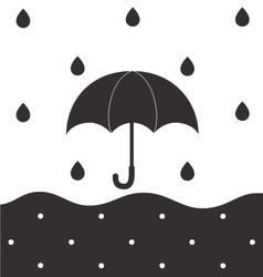 Rainy BW vector image