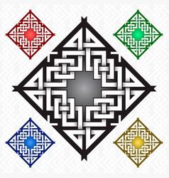 Rhombic cruciform logo template in celtic knots vector