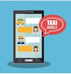 Taxi service call center driver bubble speech vector