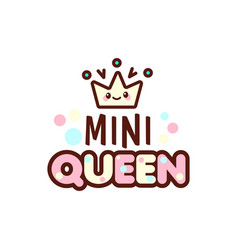 The of crown and mini queen vector