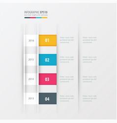 timeline design design yellow blue pink color vector image vector image