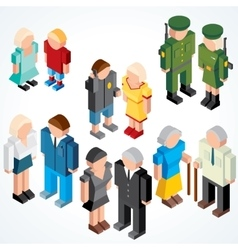 Vecor People with various Ages vector image