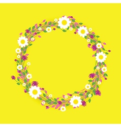 Yellow round flowers vector